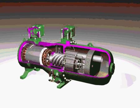 (2)配用的电动机高速旋转,气流噪声大,加上压缩机本身噪声也较大图片